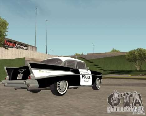 Chevrolet BelAir Police 1957 для GTA San Andreas вид сзади