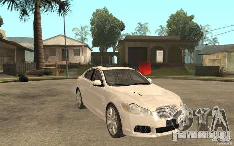 Jaguar XFR для GTA San Andreas вид сзади