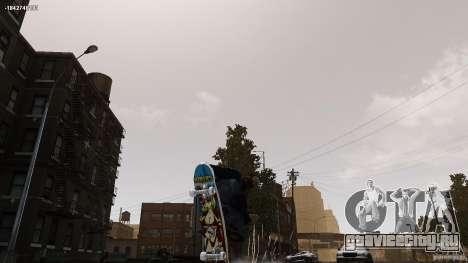 Скейтборд №4 для GTA 4 вид сзади слева