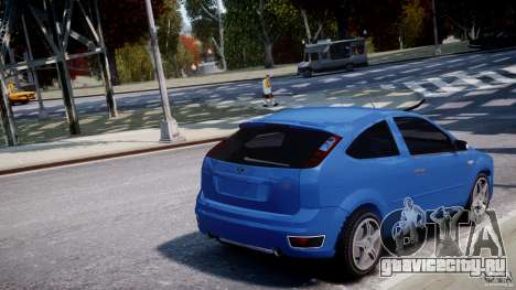 Ford Focus ST для GTA 4 вид снизу