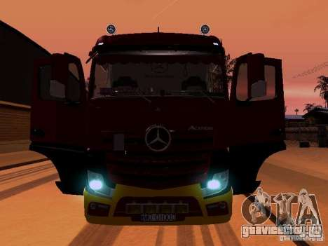 Mercedes Benz Actros MP4 для GTA San Andreas двигатель