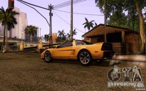 Acura NSX Targa для GTA San Andreas вид слева