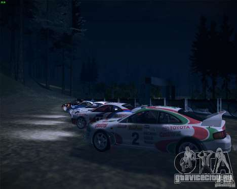 Toyota Celica ST-205 GT-Four Rally для GTA San Andreas вид сбоку