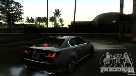 Lexus GS350F Sport 2013 для GTA San Andreas салон
