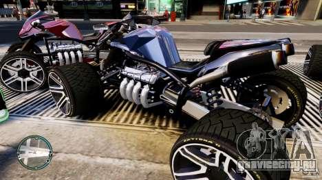 ATV Quad V8 для GTA 4 вид слева