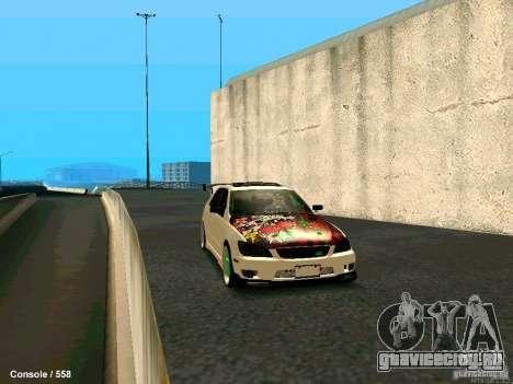Toyota Altezza для GTA San Andreas вид сзади