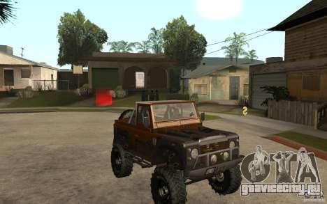 Land Rover Defender Extreme Off-Road для GTA San Andreas вид сзади