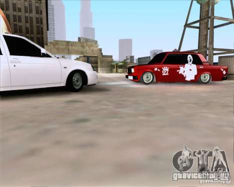 ВАЗ 2107 Gangsta для GTA San Andreas вид слева