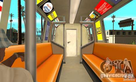 Liberty City Train GTA3 для GTA San Andreas вид справа
