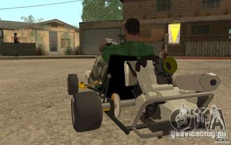 Hayabusa Kart для GTA San Andreas вид сзади слева