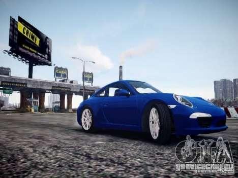 Porsche 911 Carrera S 2012 для GTA 4 вид справа