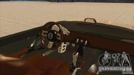 Mazda MX5 Miata Superlight 2009 V1.0 для GTA San Andreas вид изнутри