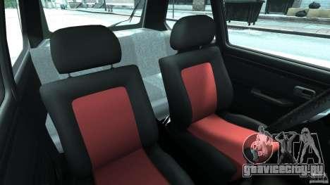 Volkswagen Golf Mk1 Stance для GTA 4 вид изнутри