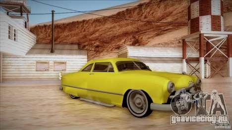Ford Coupe Custom 1949 для GTA San Andreas вид слева
