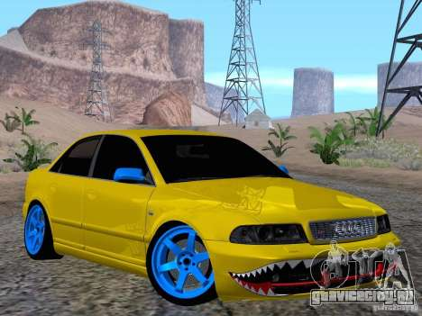 Audi S4 DatShark 2000 для GTA San Andreas вид изнутри