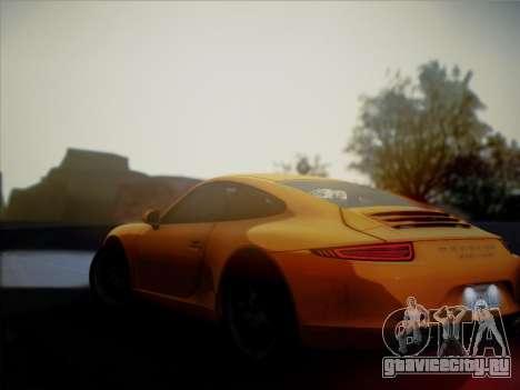 Porsche 911 (991) Carrera S для GTA San Andreas вид сзади