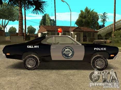 Plymout Duster 340 POLICE v2 для GTA San Andreas вид слева