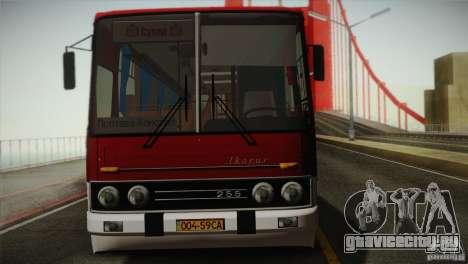 Икарус 255.01 для GTA San Andreas вид сзади