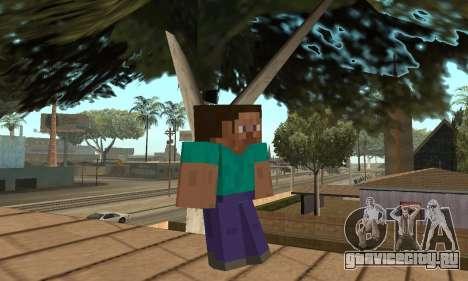 Скин Стива из игры Minecraft для GTA San Andreas второй скриншот