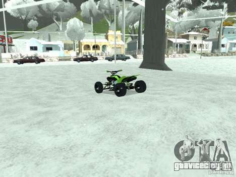 Kawasaki Monster Energy Quad для GTA San Andreas вид сзади слева