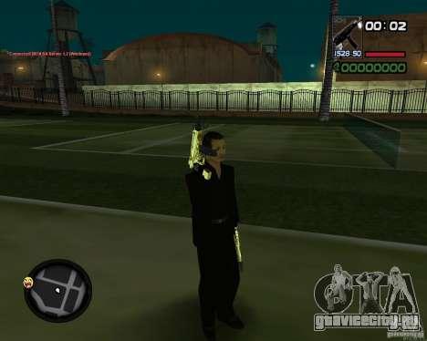 Tec 9 GOLD для GTA San Andreas третий скриншот