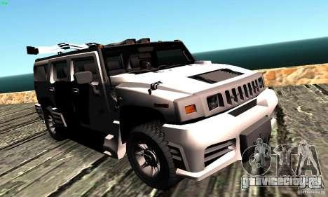 Hummer H2 Tunable для GTA San Andreas вид сзади слева