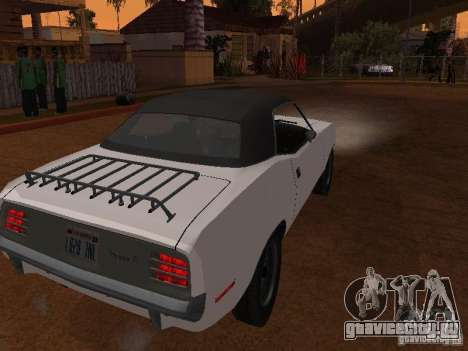 Plymouth Barracuda Rag Top 1970 для GTA San Andreas вид сзади слева