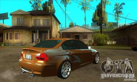 BMW E90 M3 для GTA San Andreas вид справа