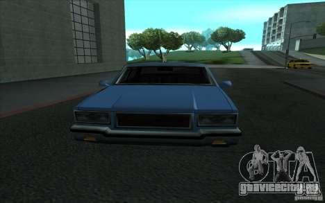 Civilian Police Car LV для GTA San Andreas вид изнутри