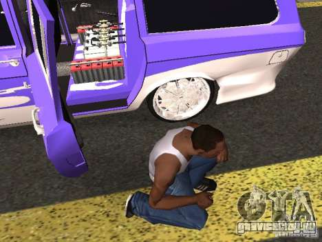 ГАЗ 24-12 Lowrider для GTA San Andreas вид сзади