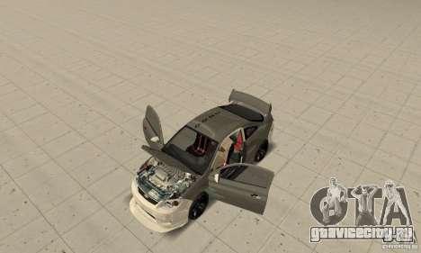 Chevrolet Cobalt SS NFS ProStreet для GTA San Andreas вид изнутри