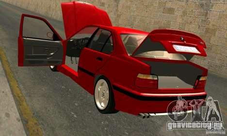 BMW  M3 Е36 для GTA San Andreas вид снизу