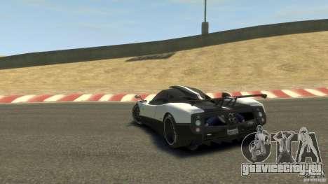 Pagani Zonda Cinque 2009 для GTA 4 вид сзади слева