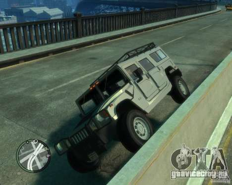 Hummer H1 для GTA 4 вид изнутри