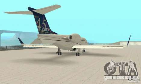 Bombardier Leardjet 45XR для GTA San Andreas вид сзади слева