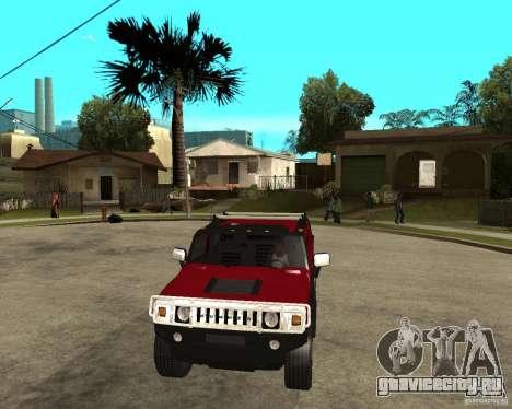 AMG H2 HUMMER SUT для GTA San Andreas вид сзади