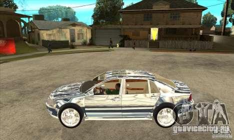 Volkswagen Phaeton хромированный для GTA San Andreas вид слева