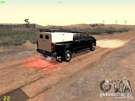 Dodge Ram 3500 Unmarked для GTA San Andreas вид сзади