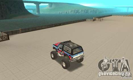 Chevrolet Blazer K5 Monster Skin 1 для GTA San Andreas вид сзади слева