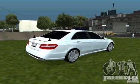 Mercedes-Benz E63 ДПС для GTA San Andreas вид справа