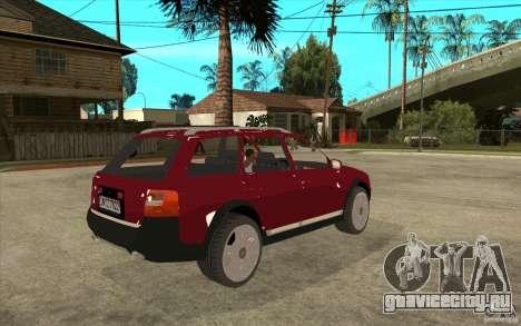 Audi Allroad Quattro v1.1 для GTA San Andreas вид справа