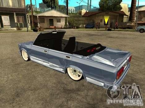 ВАЗ 2107 Convertible для GTA San Andreas вид слева