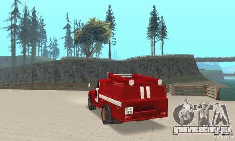 ЗИЛ-130 пожарная для GTA San Andreas вид сзади слева