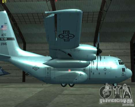 C-130 hercules для GTA San Andreas вид слева