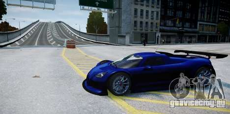 Gumpert Apollo Sport 2011 для GTA 4 вид сзади