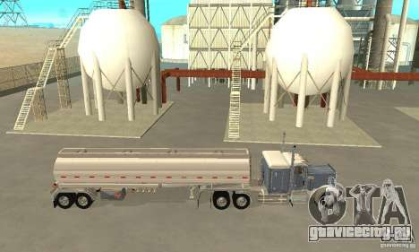 Peterbilt 379 Custom And Tanker Trailer для GTA San Andreas вид слева