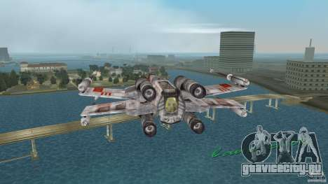 X-Wing Skimmer для GTA Vice City вид сзади