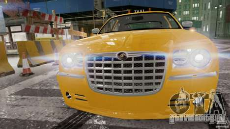Chrysler 300c 3.5L TAXI FINAL для GTA 4 вид слева