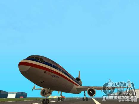 McDonell Douglas MD11 American Airlines для GTA San Andreas вид сзади