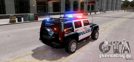 Hummer H3X 2007 LC Police Edition ELS для GTA 4 вид сзади слева
